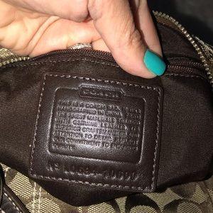 Coach Bags - Coach brown/tan leather signature c purse